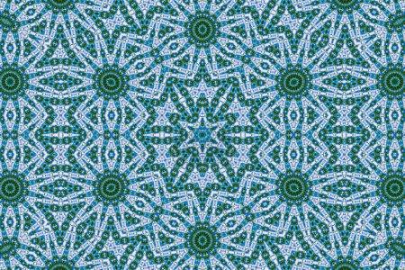 Photo pour Kaléidoscope motif abstrait, coloré fond miroir réfléchissant comme élément de design graphique - image libre de droit