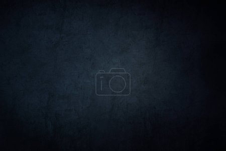 Photo for Dark grunge wall background, rough worn surface texture - Royalty Free Image