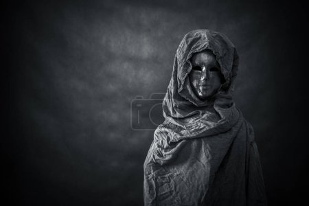Photo for Ghostly figure in the dark - Royalty Free Image
