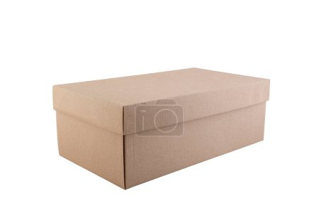 Photo for Cardboard box isolated on white background with clipping path - Royalty Free Image