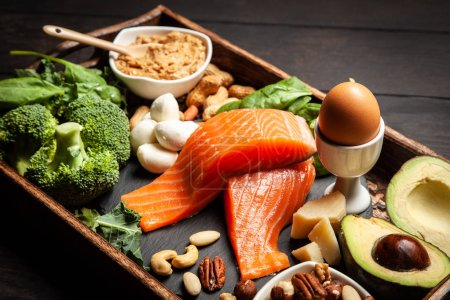 Photo for Ketogenic diet concept - low carb healthy food - Royalty Free Image