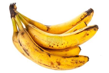 Foto de Sobremadura manchados plátanos aislados sobre fondo blanco - Imagen libre de derechos