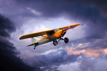 Photo pour Petit avion privé isolé sur fond blanc - image libre de droit