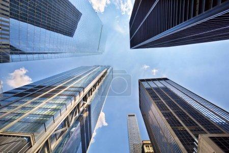 Blick auf Wolkenkratzer in der Innenstadt von New York