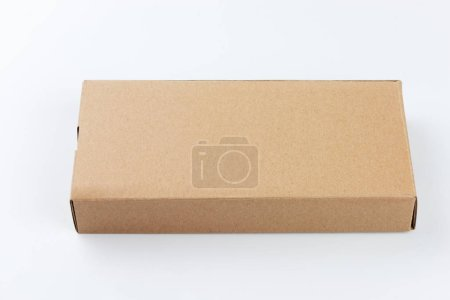 Photo for Cardboard box isolated on white background - Royalty Free Image