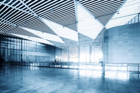 Photo for Modern business hall interior with glass wall - Royalty Free Image
