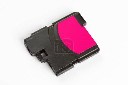 Inkjet printer cartridge isolated on white.