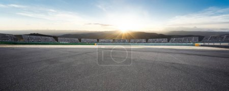 Photo for Empty asphalt road with sunrsise - Royalty Free Image