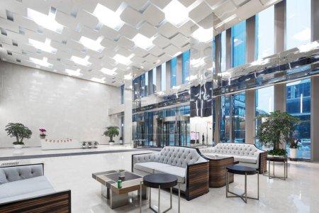 Photo pour Intérieur du hall de bureau moderne - image libre de droit