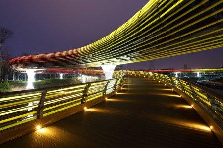 modern bridge in Jinhua, China