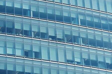 glass windows of modern office building