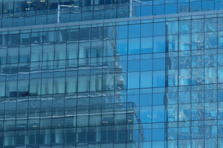 Photo for Glass windows of modern office building - Royalty Free Image