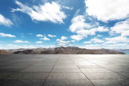 Photo for Empty ground with blue sky - Royalty Free Image