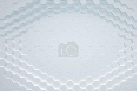 white Hexagonal background, 3D render