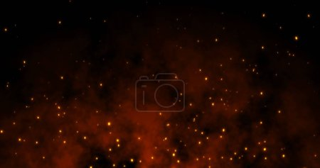 Photo pour Les étincelles volent sur fond noir : illustration 3d - image libre de droit