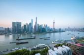 """Постер, картина, фотообои """"Шанхайский городской утром, вид с Северной Бунда, Китай"""""""