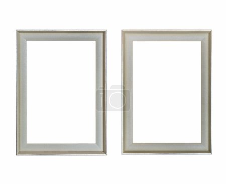 Photo for Blank picture frame isolated on white with clipping path - Royalty Free Image