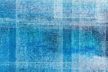 Foto de Lona azul para el fondo de textura parcial de pintura al óleo - Imagen libre de derechos