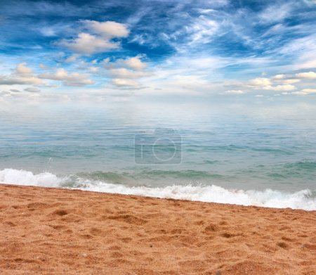 Photo for Beautiful sandy beach of the mediterranean sea - Royalty Free Image