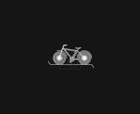 Illustration pour Modern Cycling Flat Line Art dessin, Illustration vectorielle. - image libre de droit