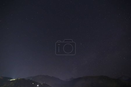 Photo for Night sky above Himalayas mountains in Dharamshala, India - Royalty Free Image