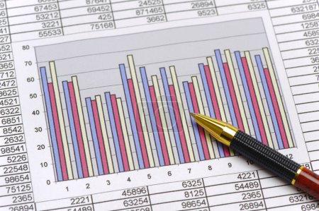 Photo pour Tableau financier du marché boursier - image libre de droit