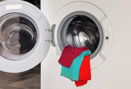coloured underwear in the washing machine