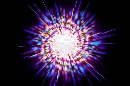 lumière blanche de l'espace consiste à étoiles, graissé abstrait multicolore lumineux