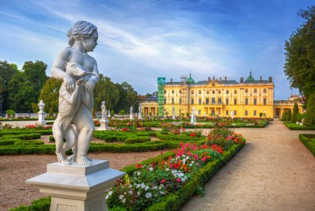 Photo for Beautiful gardens of the Branicki Palace in Bialystok, Poland - Royalty Free Image