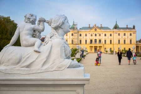 Beautiful architecture of the Branicki Palace in Bialystok, Poland