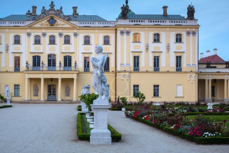 Photo for Bialystok, Poland - September 17, 2018: Beautiful gardens of the Branicki Palace in Bialystok, Poland. Bialystok  is the largest city in northeastern Poland. - Royalty Free Image
