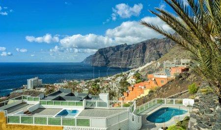 Beautiful sunny view of Los Gigantes, Tenerife