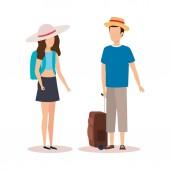 Couple of travelers design
