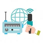 hand microphone radio world broadcast breaking news