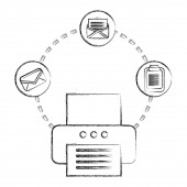 office printer email clipboard documents