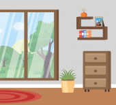 living room flat image design