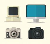flat design gadgets technology icons