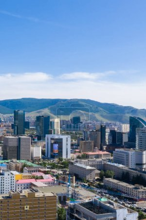 Photo for Aerial view of Ulaanbaatar, the capital of Mongolia, circa June 2019 - Royalty Free Image