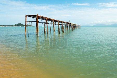 Decaying pier in Fisherman's Village, Bophut, Ko Samui, Thailand