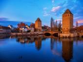 "Постер, картина, фотообои ""Ponts couverts in Strasbourg France"""