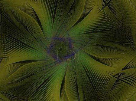 Foto de Textura fractal exuberante imaginativa generada imagen fondo abstracto - Imagen libre de derechos