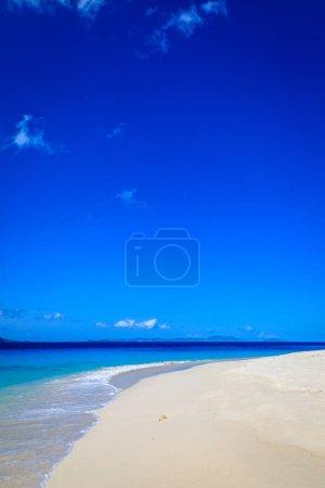 Empty idyllic beach on a small island in BVI