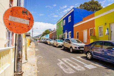 Scène de rue dans historique Bo-Kaap, district de Cape Town, Afrique du Sud