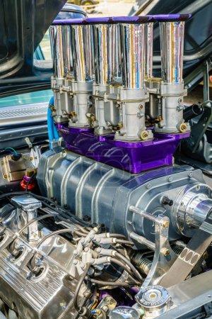 Photo pour Compartiment moteur de muscle voiture américaine - image libre de droit