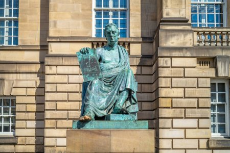 Statue of David Hume on
