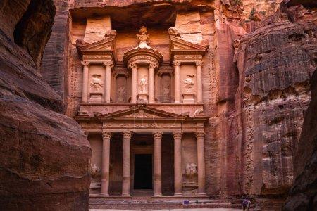 Photo pour Al Khazneh (Le Trésor) à Petra, en Jordanie - image libre de droit