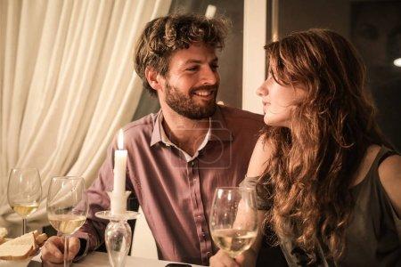 Couple on a romantic dinner.