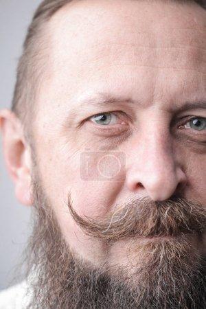 Photo pour Moustache d'un homme de hipster - image libre de droit
