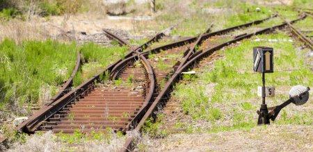 old railway tracks, Uhrice u Kyjova, Czech Republic