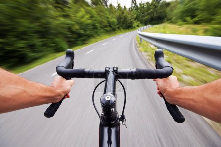 Road cycling wide angle speed shoot - exclusive images